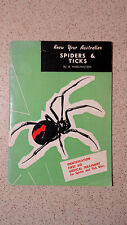 know your australian SPIDERS & TICKS b.hadlington