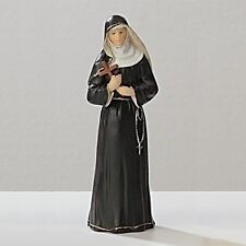Statue St Rita 3.5 inch Painted Resin Figurine Patron Saint Catholic Card Boxed