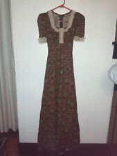 Vintage homemade boho festival maxi dress size XS