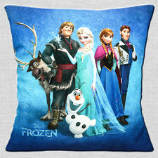 """NEW FROZEN Disney Film Characters Olaf Sven Elsa Anna  16"""" Pillow Cushion Cover"""