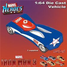 Marvel Heroes Iron Man 3 Blue Diecast Car Vehicle 1:64 Scale - Model D