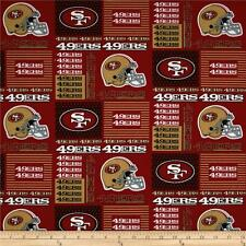 NFL SAN FRANCISCO 49ERS  PATCH  100% COTTON FABRIC  BY THE 1/4 YARD