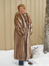 Vintage Medium / Large Christa Furs Genuine Stone Martin Long Fur Coat