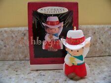 1993 Hallmark Nephew Cowboy Sheriff Hat Christmas Ornament