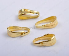 500Pcs gold plated Pendant Pinch Clip Bail Connector 6mm DIY Findings
