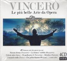 4 CD Box ♫ Compact disc **VINCERÒ ♦ LE PIU BELLE ARIE DA OPERA** Nuovo Sigillato
