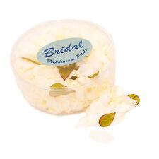 Artificial silk Delphinium Petals Ivory White Box of 554 wedding table confetti
