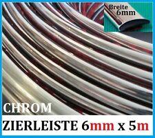 6mm x 5 METER ZIERLEISTEN Chrom Auto selbstklebend Universal NEU