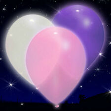 15 Purple, Pink & White LED iLLoom Balloons - 15 pack glowing light up balloons