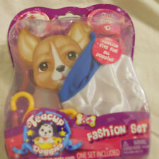New Pet Toy Teacup Doggies Outfit Fashion Set Clothes Ages 3+ White Blue