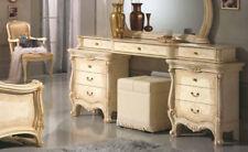 Frisiertisch Schminktisch Schlafzimmer Kommode Klassisch Elfenbein Möbel Italien