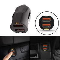 Dual USB Car Charger adapter 2 Port 12-24V Cigarette Socket Lighter Accessories