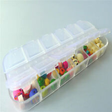 New Clear Plastic Box Case Beads Display Storage Container 12 compartments