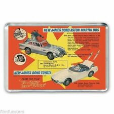 NOSTALGIA CORGI TOY  JAMES BOND ASTON MARTIN-TOYOTA ADVERT JUMBO FRIDGE MAGNET