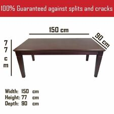 Solid Mahogany Wood Rectangular Dining Table 1.5m Antique Reproduction Style