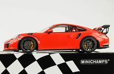 Porsche 911 991 GT3 RS LAVA ORANGE 2015 1:18 Minichamps Diecast