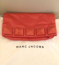 Marc Jacobs Clutch Handbag Fergie Studded Coral Patent Leather EUC
