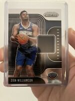 2019-20 Prizm ZION WILLIAMSON Sensational Swatches Rookie JERSEY Relic Pelicans