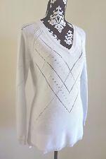 WHITE HOUSE BLACK MARKET V-Neck Raglan Sleeve Tunic Sweater M (8/10) - $98 - NWT