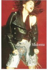 MADONNA ' leather & chains'  6x4 inch unused Postcard  from Smash Hits