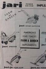 Jari 1942 Jr. & Sr. Walk-Behind Sickle Lawn Farm Mower Tractor Sales Brochure