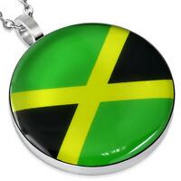 Anhänger Jamaika Flagge Silber Edelstahl Pendant Damen Herren Halskette Armband
