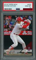 2018 Topps NOW SHOHEI OHTANI #432 RC Rookie (Angels) PSA 10 GEM MT PR* 3430