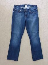 Womens Lucky Brand Jeans Lola Straight Run Stitch Sz.28 *measures 30/27*