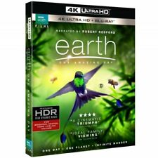 Earth: One Amazing Day (4K UHD) [Blu-ray], Good DVD, Jackie Chan,Robert Redford,