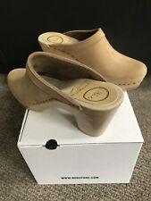 NEW No.6 Old School High Heel Clog Bone Beige Nubuck Leather EU 36/US 6-6.5 $290