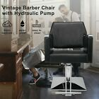 Deluxe Hydraulic Leather Barber Chair Hair Styling Beauty Salon Heavy Duty Black