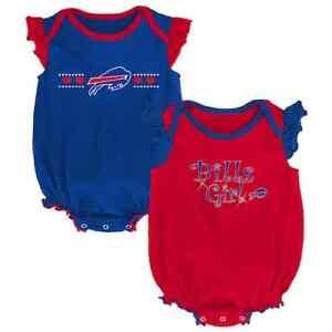Buffalo Bills NFL Baby Girl Homecoming Bodysuit Set, Size 12 Months - NWT