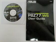 Genuine Asus P8Z77 WS Motherboard Support Disc Rev. 604.02 and User Guide