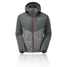 Montane Mens Prism Jacket Top - Grey Sports Outdoors Full Zip Hooded Warm