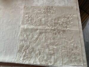 GP & J Baker Embroidered Fabric Sample Wisteria Sheer in Ivory