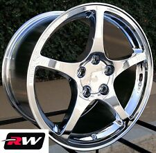 "(2) 17"" (2) 18"" Wheels Corvette C5 Y2K Style Chrome Rims for Firebird 1993-2002"