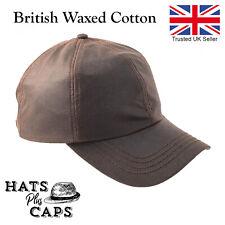 Wax Baseball Cap British Waxed Cotton Navy Olive Fishing Shooting Waterproof Hat