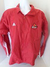 Men's Adidas Louisville Cardinals Zip Up Jacket size-M 100% Nylon Shell