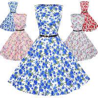 Maggie Tang 50s VTG Retro Rockabilly Hepburn Pinup Polka Dot Swing Dress 533 507