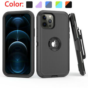 For iPhone 13/12 Pro Max/XR/XS Max Phone Case With Holster Clip Kickstand Cover