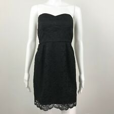 As U Wish Juniors Strapless Sweetheart Neck Formal Black Lace Mini Dress Size 3