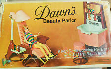 Dawn's Beauty Parlor with original box + lots of extra accessories & clothes