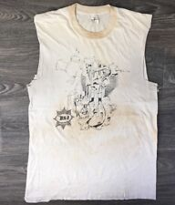 BSA Shirt Gold Star 60s 70s VTG Motorcycle Engine Distressed Sleeveless Rare L