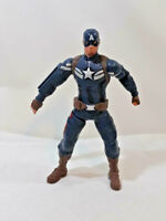 Marvel Winter Soldier Captain America Action Figure 2013 Talks Hasboro WORKS