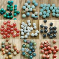 Lot Natural Stone Gemstone Round Spacer Loose Beads For Jewelry DIY,4/6/8/10MM