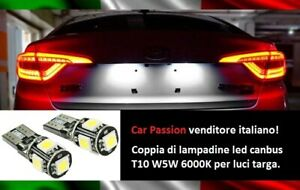 """Lights License Plate 5 LED Fiat Brava Pair of Bulbs Canbus T10 W5W 6000K No """")"""