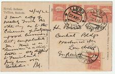 1922 Tallinn Estonia 5x1 mark PPC to London