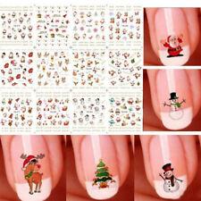 3D Ongles Art Autocollants Bonhomme Flocon Neige Mignon Nails Sticker Décor Noël