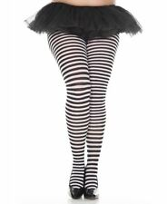Plus Size Opaque Striped Tights - Music Legs 7471Q