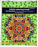 Adult Coloring Book - 50 Mandala Stress Relieving Patterns with Quotes